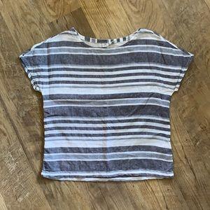 Artisan NY Striped Linen Shirt Sz S